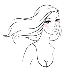 woman line vector image