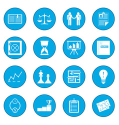 business office icon blue vector image vector image