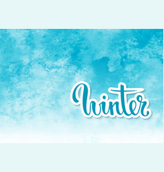 hello winter hand drawn calligraphy and brush pen vector image vector image