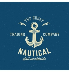 Nautical Retro Logo or Label Template vector image vector image