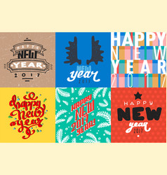 2017 happy new year background greeting vector image