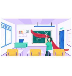 A teacher at school for seamstresses vector