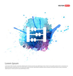 Abacus icon - watercolor background vector