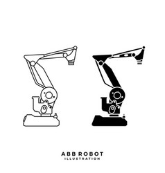 abb robot flexible arm vector image