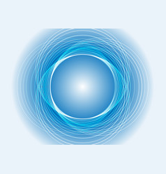 Abstract blue light circle background vector