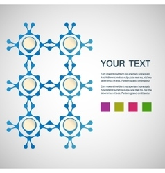 abstract blue men on a white background vector image vector image