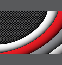 Abstract red gray curve circle mesh modern vector