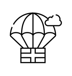 aerostat line icon concept sign outline vector image