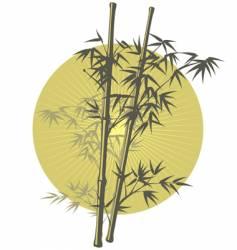 Asian bamboo vector