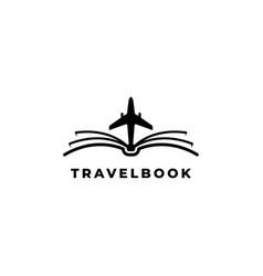 Aviation book logo design symbol template vector