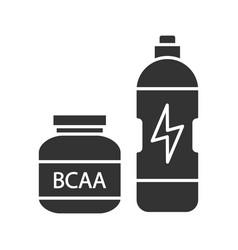 Bcaa supplement glyph icon vector