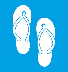 Beach thongs icon white vector