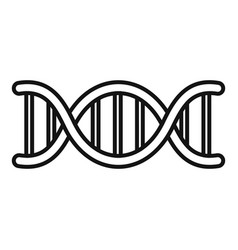 Biophysics dna icon outline style vector