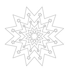 black and white round simple christmas star vector image