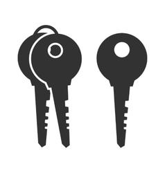 Black key icon vector image