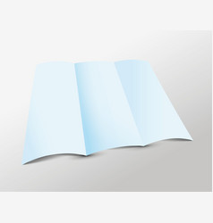 blue folded paper vector image