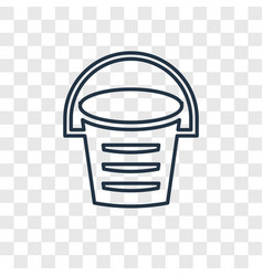Bucket concept linear icon isolated on vector