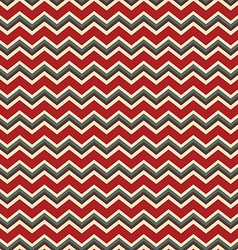 Chevron red and green holiday colors vector image