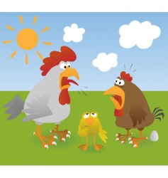 chicken 3 vector image