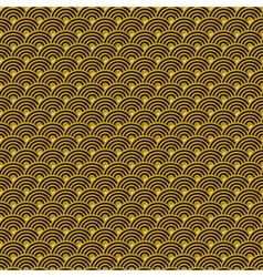 Chinese golden background seamless pattern vector