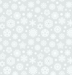 Christmas seamless pattern with snowflakes light vector