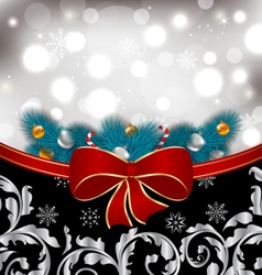 Christmas traditional background with decoration vector