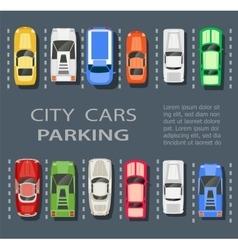 city parking lot vector image