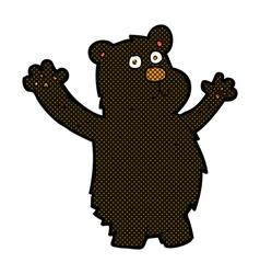 Comic cartoon funny black bear vector
