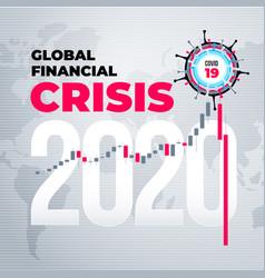 Coronavirus financial crisis economic stock market vector