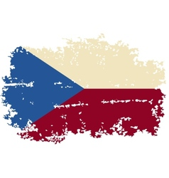 Czech grunge flag vector
