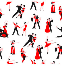 dancers or dancing party seamless pattern vector image