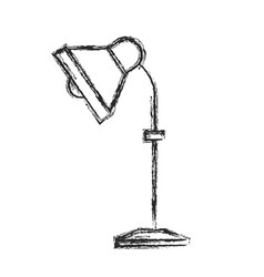 Desk lamp electricity equipment sketch vector