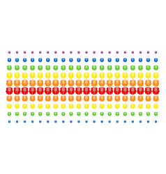 Dual head interface shape halftone spectral array vector