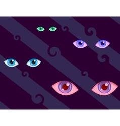 Eyes pattern vector image