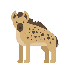 flat style of hyena vector image