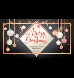golden holiday frame-02 vector image