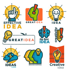 great effective creative idea promotional colorful vector image