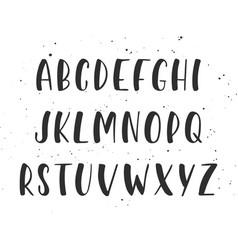 handwritten brush script english alphabet abc vector image