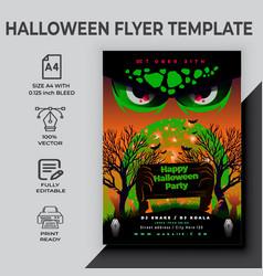 Happy halloween flyer design template vector