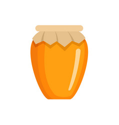 Honey jar icon flat style vector