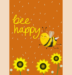 Humorous card or print on a t-shirt two cute bees vector