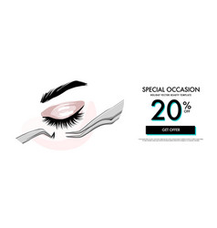 lash making cosmetic procedure promotion banner vector image