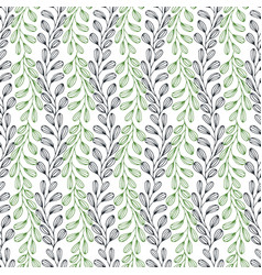 leaves seamless pattern nature background vector image