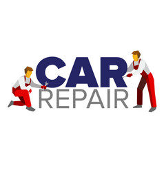 Logo template for autoservice or car repair vector