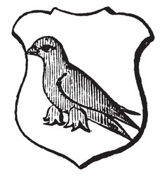 Martlet is an imaginary bird said to be without vector