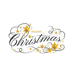 merry christmas lettering template greeting card vector image