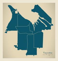 Modern city map - tacoma washington city the vector
