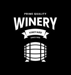 modern wine logo sign for tavern restaurant vector image