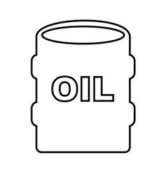 Oil barrel isolated icon design vector