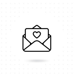 open a love letter icon vector image